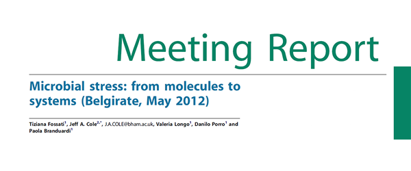 Microbial stress from molecules to systems Belgirate, May 2012