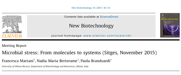 Microbialstress FrommoleculestosystemsSitges,November2015