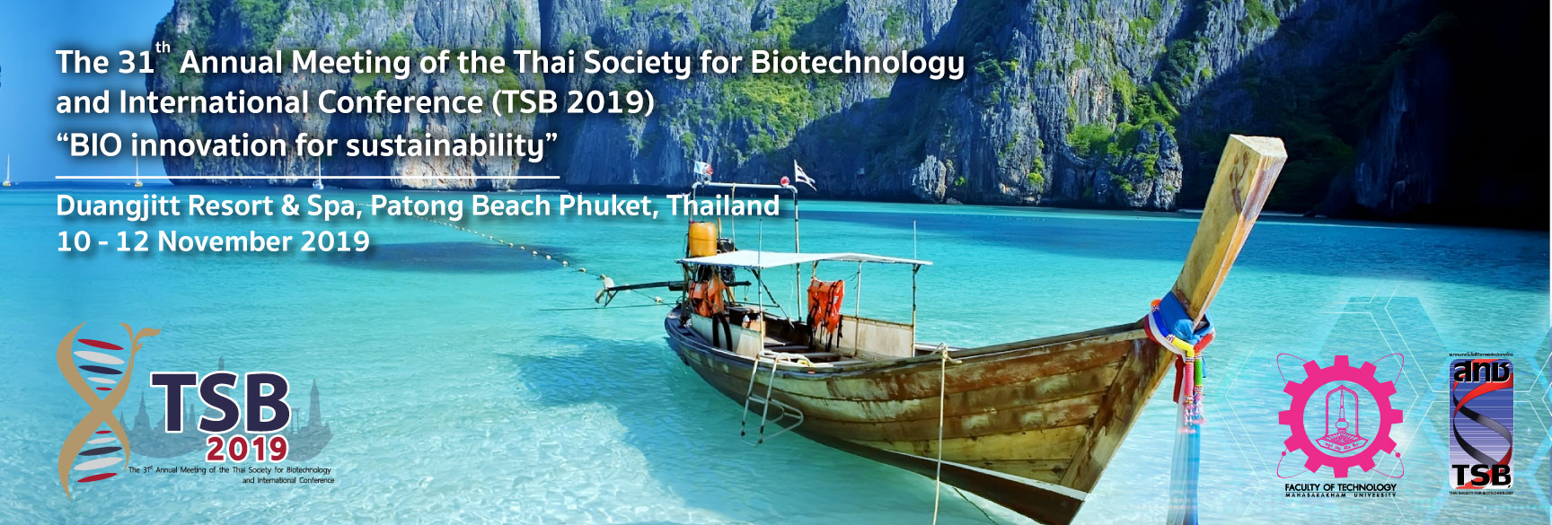 The 31 Annual Meeting of the Thai Society for Biotechnology and International Conference - Event Banner