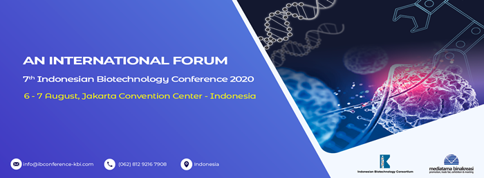 7th Indonesian Biotechnology Conference 2020 (IBC 2020) - Event Banner