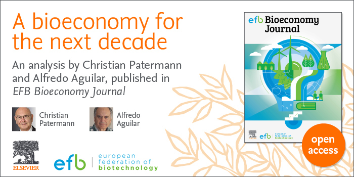 EFB Bioeconomy Journal - A bioeconomy for the next decade - Banner