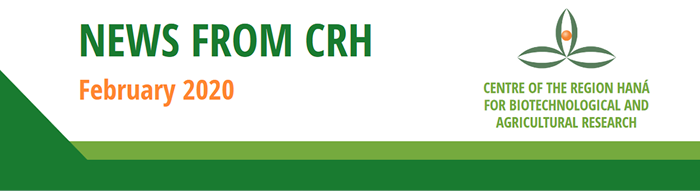 Centre of the Region Haná for Biotechnology and Agricultural Research - Newsletter Banner