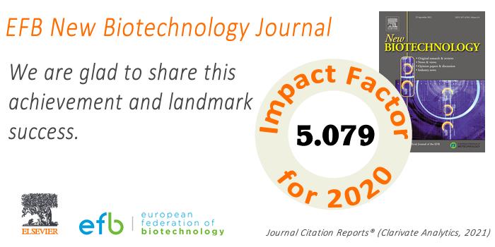 EFB New Biotechnology Journal - 5,079 - Impact Factor Milestone