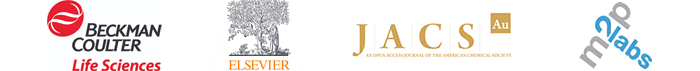 Beckman Coulter, Elsevier, JACS journal, m2p labs - Logos
