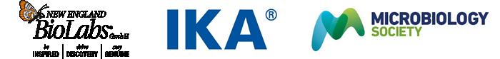 New England BioLabs, IKA, Microbiology Society - Logos