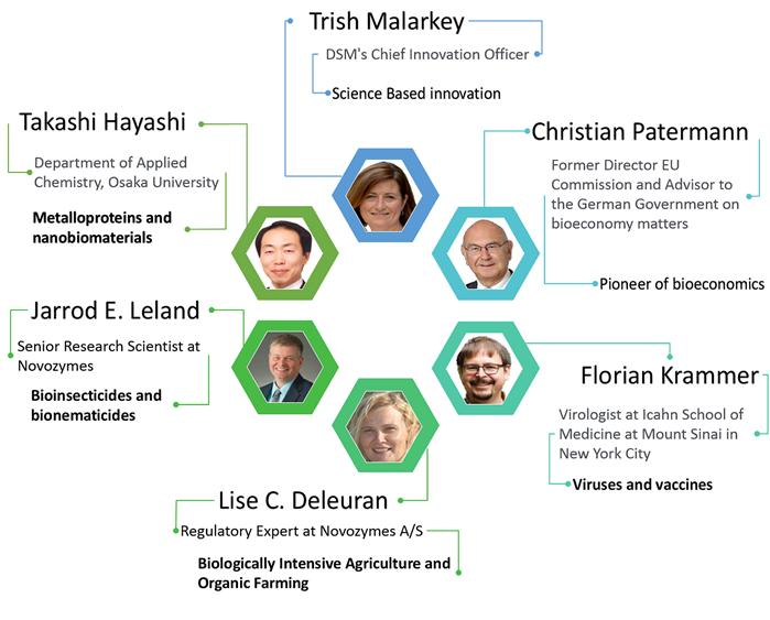 EFB2021 Plenary Speakers - Takashi Hayashi, Florian Krammer, Trish Malarkey, Christian Patermann, Jarrod E. Leland, Lise C. Deleuran
