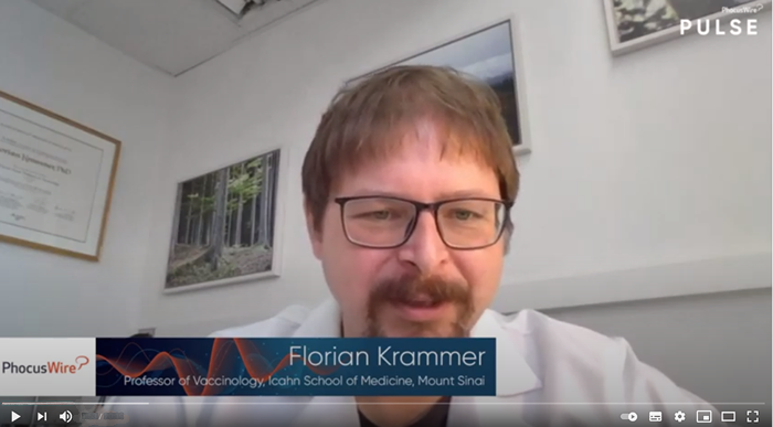Video of Florian Krammer discussing about vaccines and antibody testing